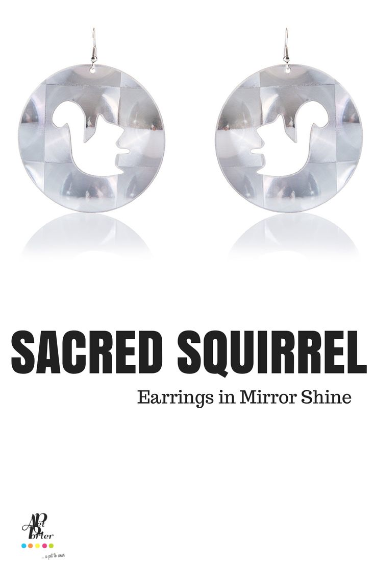 Ultra light plastic earrings in mirror shine color.