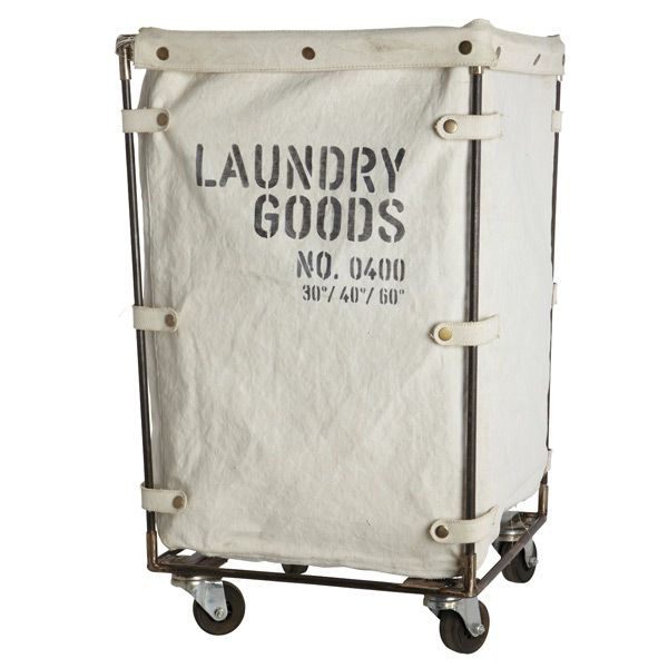 This Industrial Style Laundry Trolley Cart is a funky vintage style homeware treat. Made from a sturdy iron frame & a lovely thick cotton printed canvas