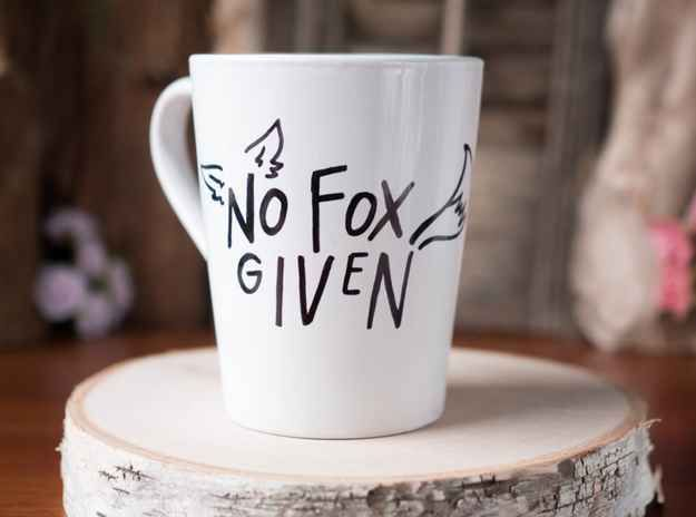 """A mug that knows how many """"fox"""" you give."""