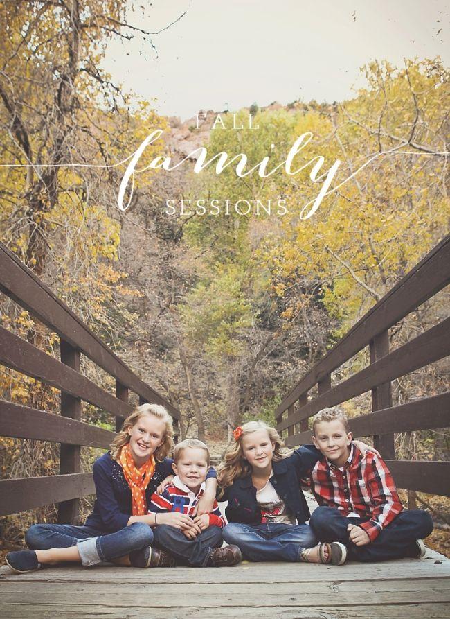Fall family photos from Salt Lake City Utah family photographer Carrie Owens