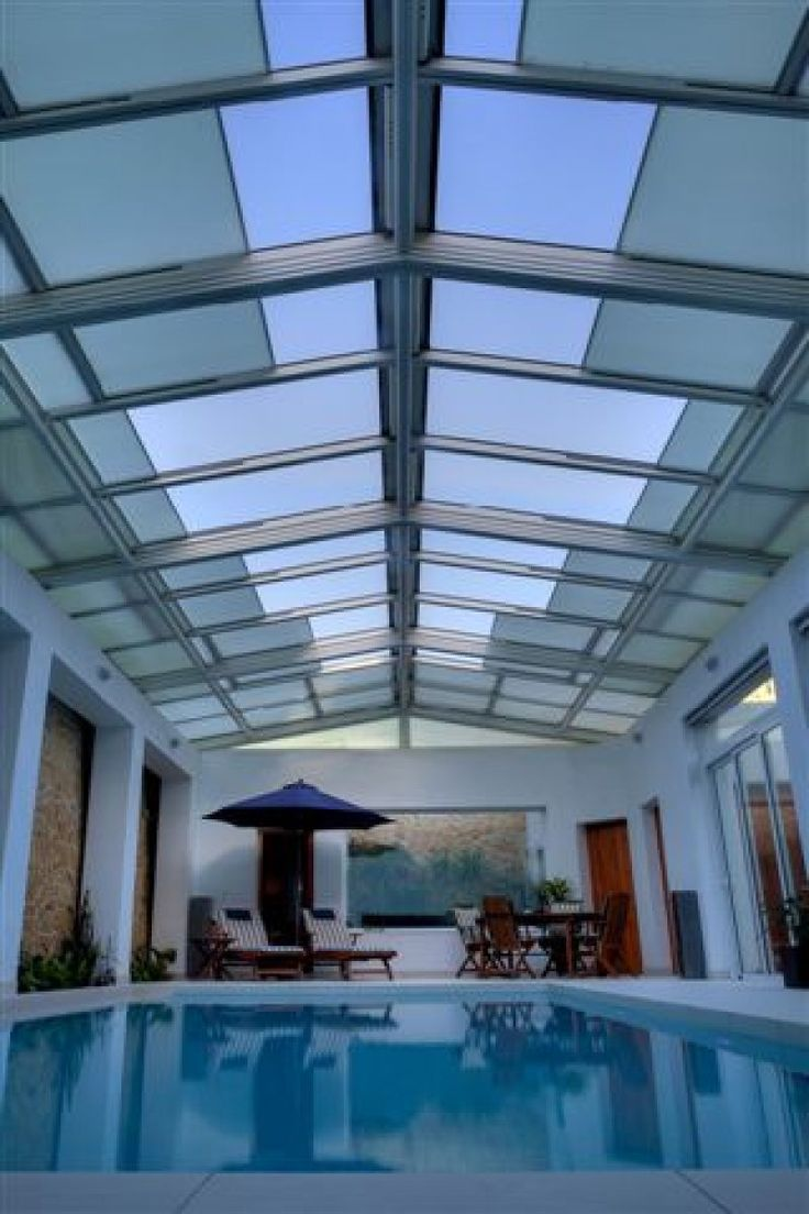 This Retractable Roofing System Over A Private Residential Pool Is A Double  Pitch Featuring 2×12 Bays. The Pool Cover Was Built Over A Structural  Aluminum ...
