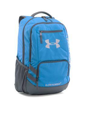 Under Armour Carolina Blue- Graphite Team Hustle Backpack