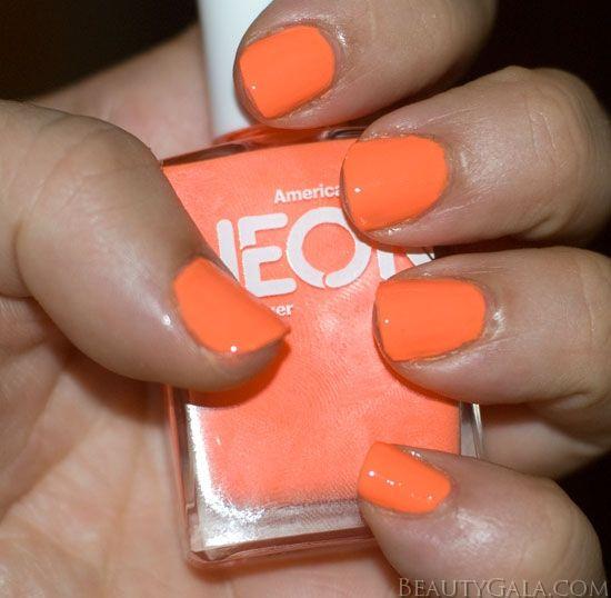 American Apparel Neon Coral Nail Polish