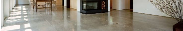 polished concrete w/ expansion joint