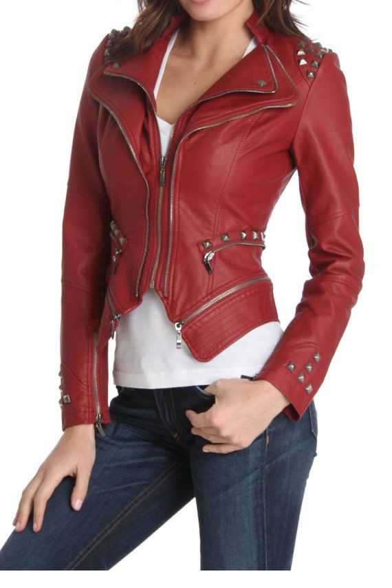 1000  ideas about Red Leather Jackets on Pinterest | Red leather