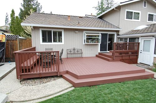 Trex Deck With Trex Railing And Benches And Steps Madeira