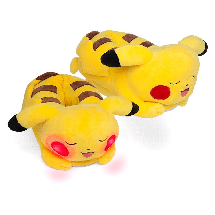 At the end of a long day of training and battles, Pokémon Trainers deserve to put their feet up and relax. And who better to do it with than Pikachu? These Pikachu slippers will cradle your tired feet, and his rosy cheeks light up when you take a ste