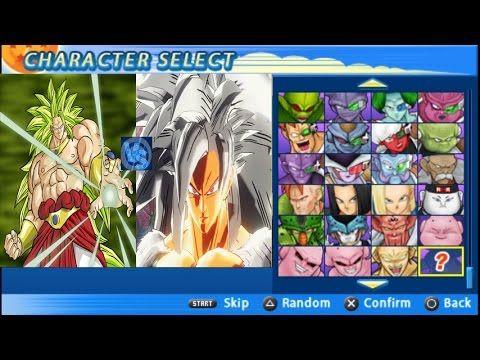Goku SSJ4 white Vs Broly SSJ3 Fight Mods  DBZ Tenkaichi Tag Team Xenover...