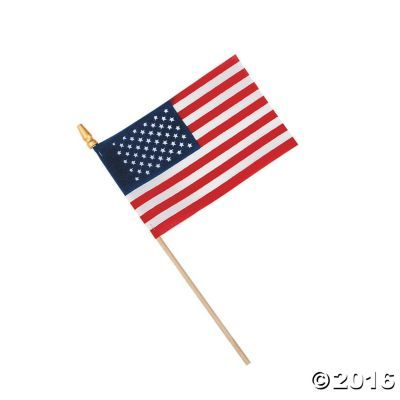 Small American Flags on Wooden Sticks - OrientalTrading.com