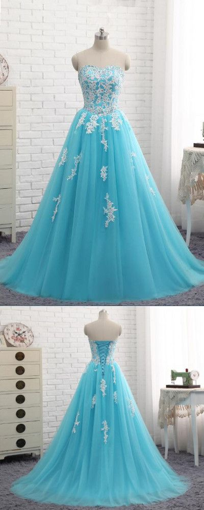 Sweetheart Appliques A-Line Prom Dresses,Long Prom Dresses,Cheap Prom Dresses, Evening Dress Prom Gowns, Formal Women Dress,Prom Dress