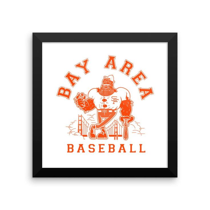 Framed Bay Area Baseball poster
