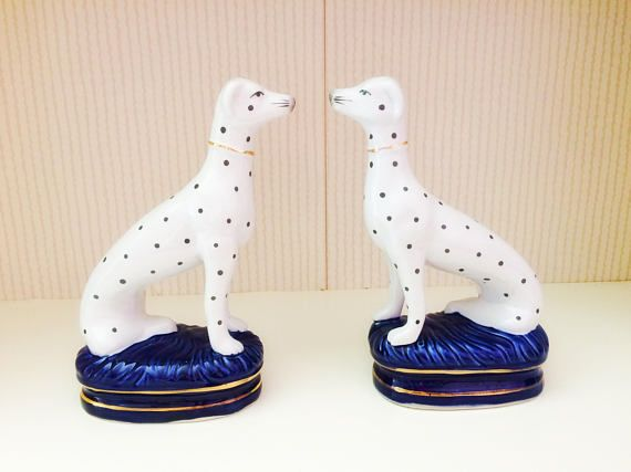 Fitz and Floyd bookends / rare vintage fitz and floyd