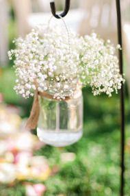 Baby breath in a mason jar is simply beautiful.