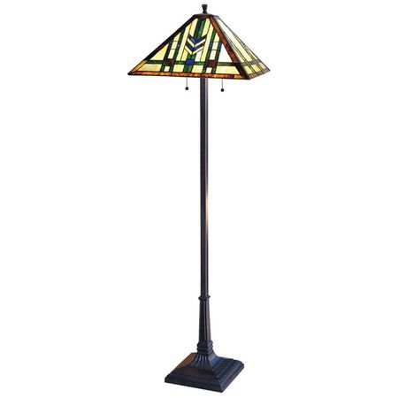 26 best craftsman style floor lamps images on pinterest artesanato colorful chevron design craftsman floor lamp aloadofball Images
