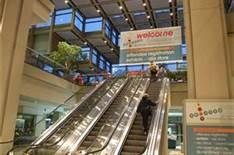 escalators inside Seattle, Convention Center - Bing Images