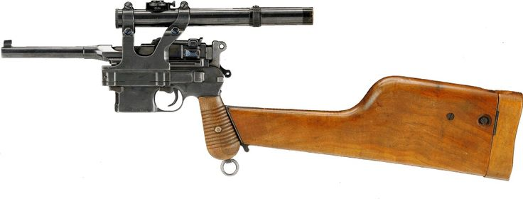 Mauser C-96 carbine with scope