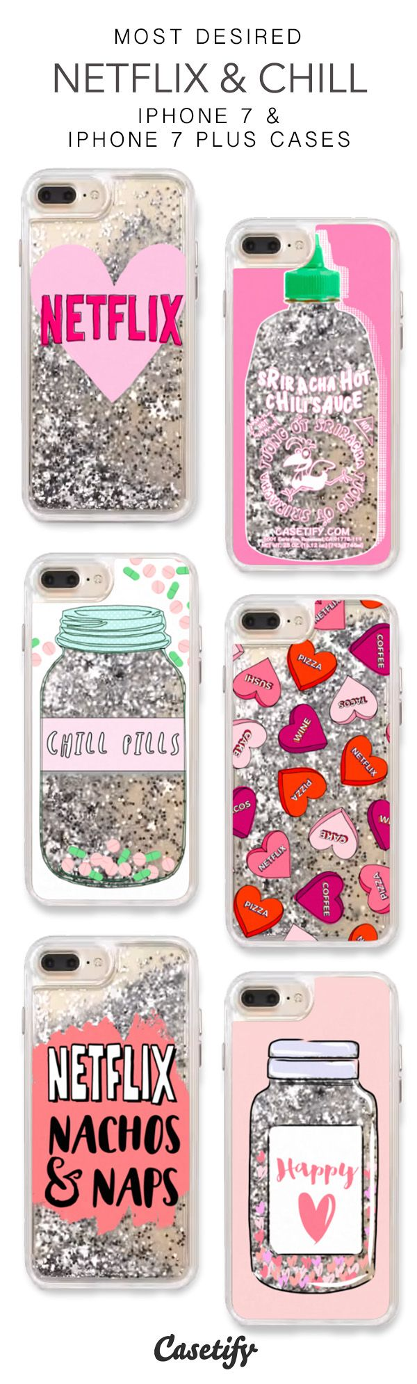 Most Desired Netflix & Chill iPhone 7 Cases & iPhone 7 Plus Cases. More Protective Liquid Glitter Chill Vibes iPhone case here > https://www.casetify.com/en_US/collections/iphone-7-glitter-cases#/?vc=CAIYkbPPPo http://amzn.to/2qZ3RzU
