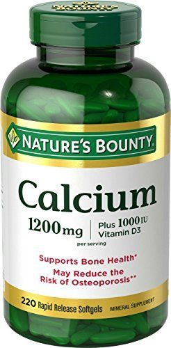 Nature's Bounty Calcium 1200 mg Plus Vitamin D3 1000 IU, 220 Softgels //Price: $14.92 & FREE Shipping //     #hashtag4