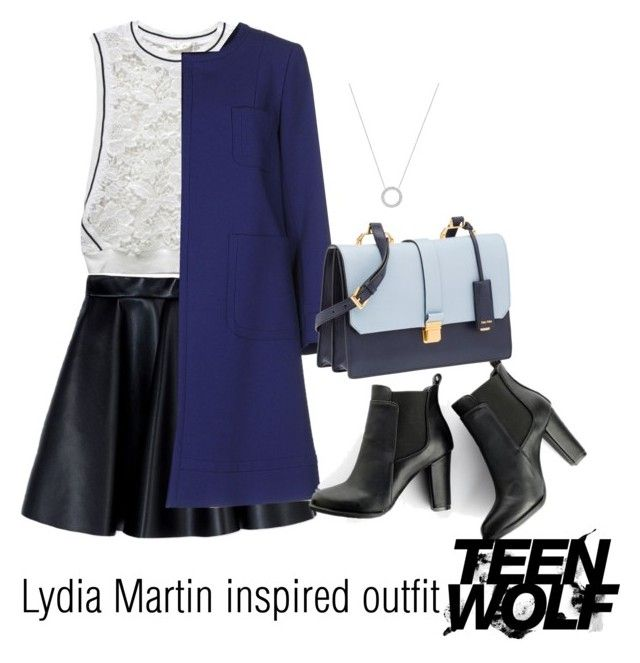 """""""Lydia Martin inspired outfit/TW"""" by tvdsarahmichele ❤ liked on Polyvore featuring MSGM, RD Style, Tara Jarmon, MANGO, Miu Miu and Michael Kors"""
