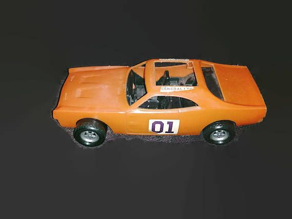 Plastic Dukes of Hazard general lee for parts missing roof and bumpers by olderoostertradingco. Explore more products on http://olderoostertradingco.etsy.com