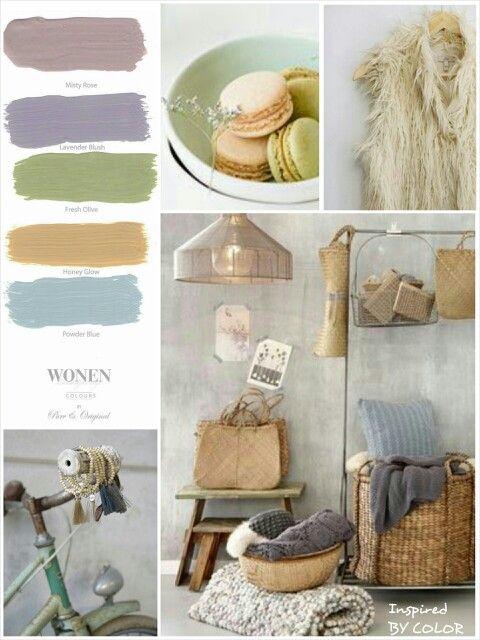 MOODboard | zomer kleuren. Inspired BY COLOR #ankemosselman