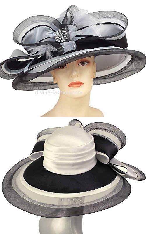 5e0ec2788f8 Ms. Divine Collection Womens Wide Brim Church Hat
