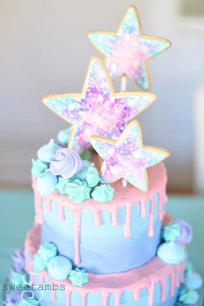 Fine Galaxy Cake Olives First Birthday With Images Galaxy Cake Funny Birthday Cards Online Inifofree Goldxyz