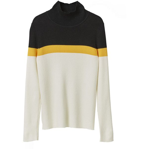 Williams Rollneck ($175) ❤ liked on Polyvore featuring tops, sweaters, jumpers, print top, ribbed turtleneck sweaters, patterned sweater, turtle neck top and roll neck jumper