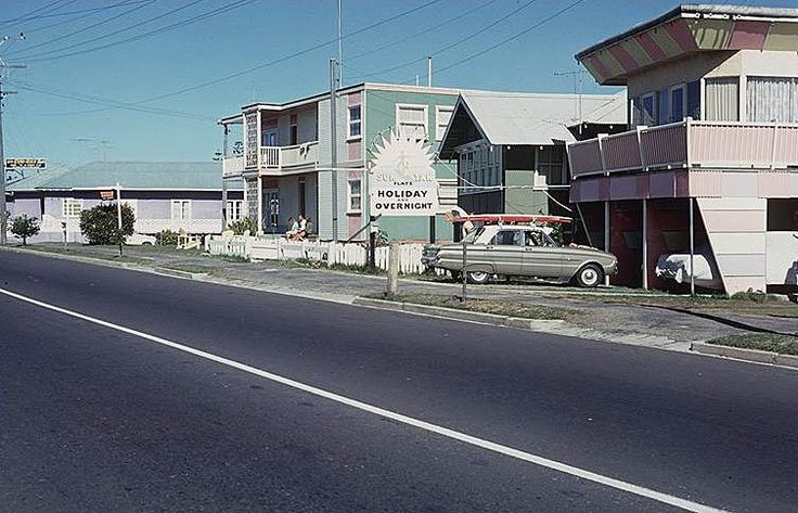 1960  Gold Coast - These houses are opposite the beach on the other side of the road.