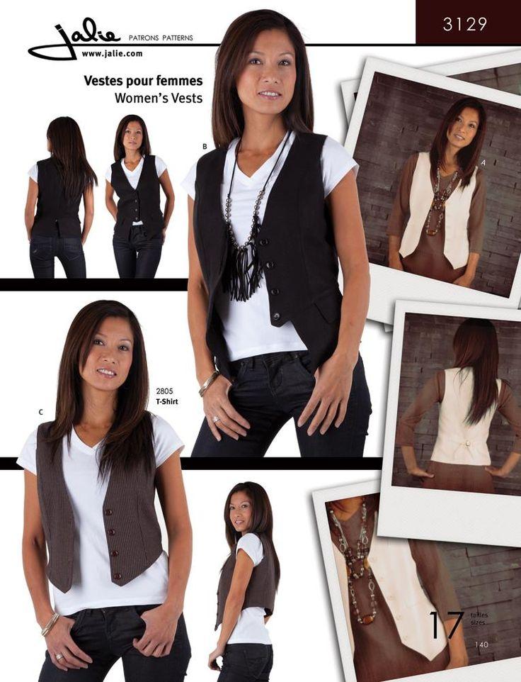 3129 Women's Vests Pattern Cover - I like this vest pattern, too. - Best 20+ Women's Vests Ideas On Pinterest Ladies Vests
