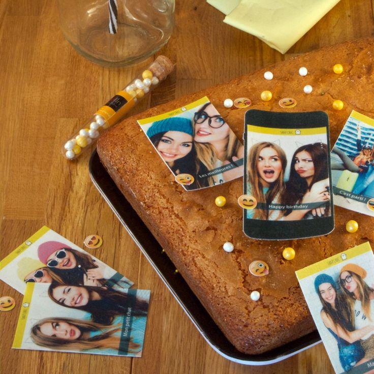 Snap Croc, vos photos et textes avec smiley, sur feuille azyme ou feuille de sucre, entièrement comestible