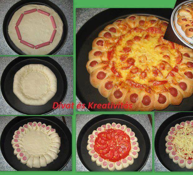 [anuncios]  Os dejo una receta que os va a encantar, veréis lo fácil que es hacer una pizza rellena de salchichas en casa y con ayuda de nuestro peques. ¿Qué necesitamos? Masa de Pizza...