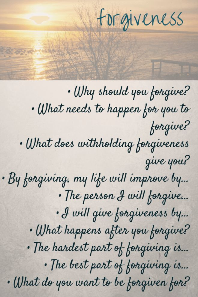 journal prompts : forgiveness | FPJ Journaling Prompts ...