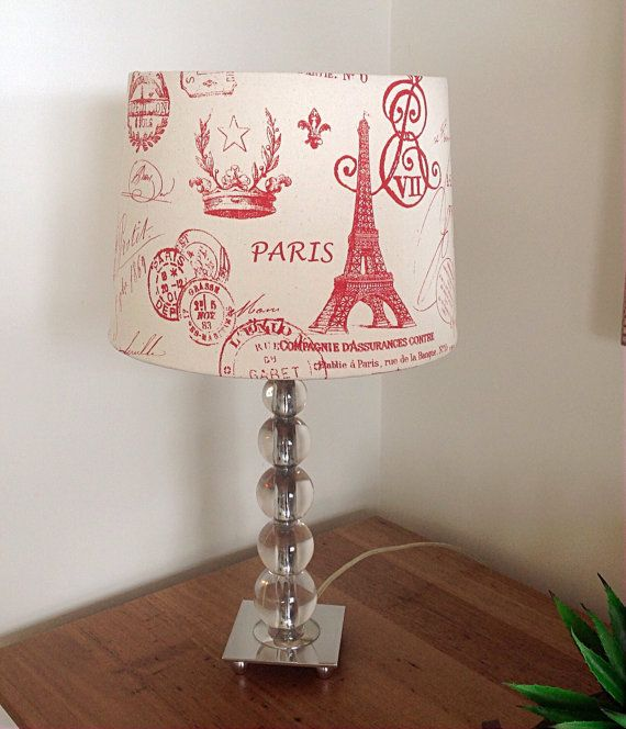 Lampshade French Decor Lampshade Bedroom Decor Red, Navy Blue, Grey, Black, Purple Lampshade