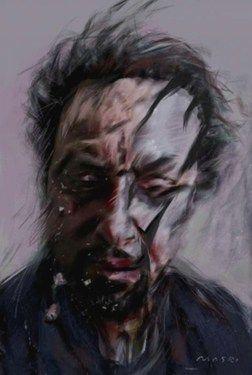 "Saatchi Online Artist Masri Hayssam; Painting, ""Thinking of them-self p-62 -SOLD-"" #art"