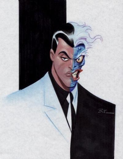 two face makeup batman animated series