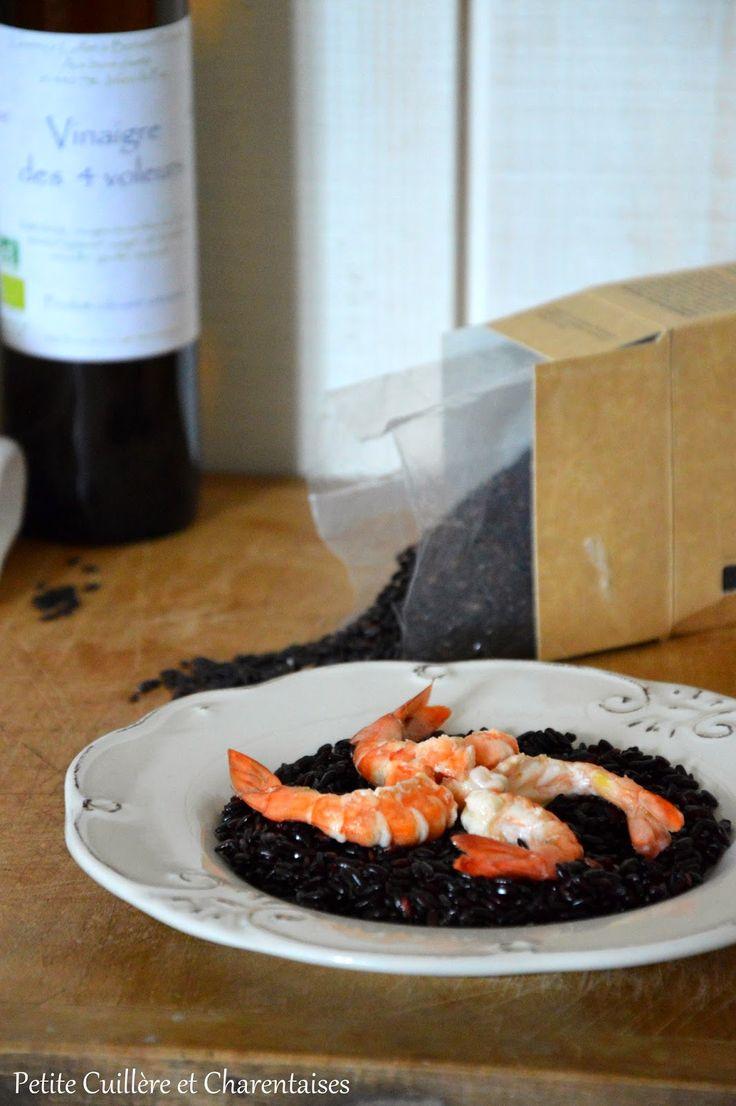 Crevettes marinées au Vinaigre des quatre voleurs et Riz Venere