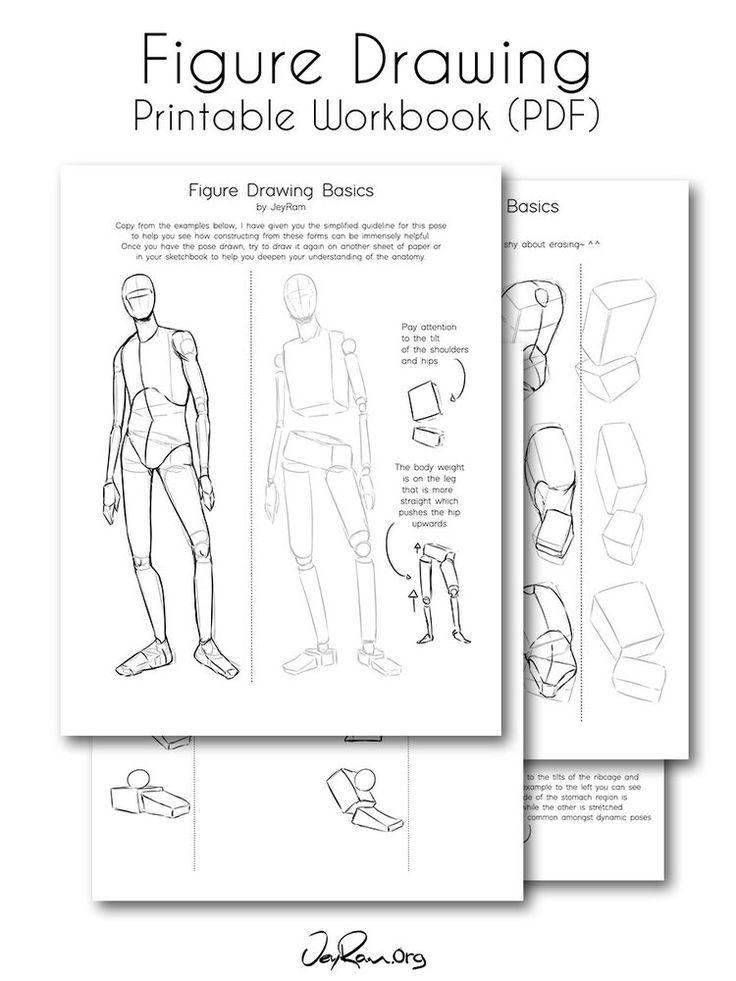 How to Draw the Human Figure (Printable PDF) - JeyRam Art ...