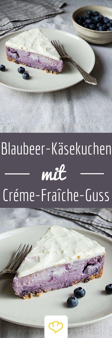 Heidelbeerkäsekuchen mit Crème Fraîche Glasur
