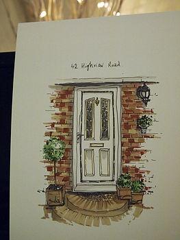 Personalised Front Door Sketch