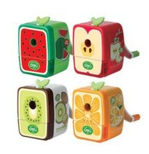 Desktop Bonito Dos Desenhos Animados Crianças Mecânica Presente Bonito Melancia Verde Melhor Apontador de Lápis de cor Material Escolar para Os Alunos(China (Mainland))
