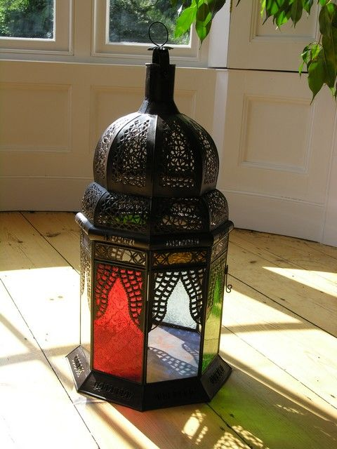 Large coloured lanterns add an exotic feel the perfect setting to watch the sun go down.  See our full range of floor standing lamps  http://www.maroque.co.uk/catalog.aspx?p=05758