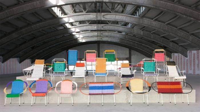 Fashion Forward: Color-Block Outdoor Chairs from Marni