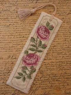 Handmade By Hannah: Cross stitch bookmark