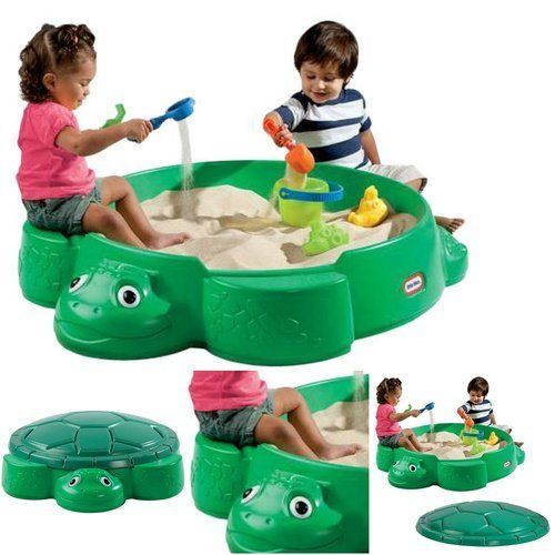 Sandbox-For-Kids-Round-Fun-Toy-Deck-Backyard-Turtle-Outdoor-Covered-Sandpit-Lid