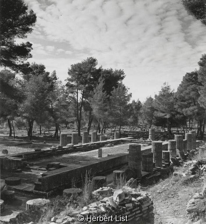 Herbert List Πελοπόννησος, Ολυμπία, ο ναός της Ήρας, 1937