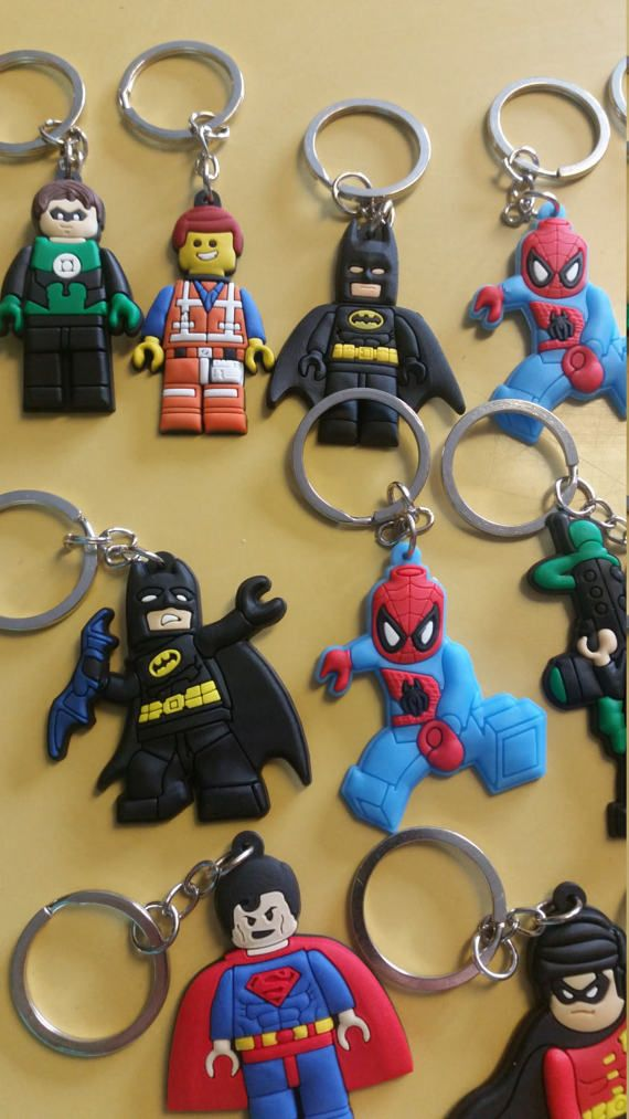 Lot of 22 Party favors Keychains  Lego Movie by SimplySydney2