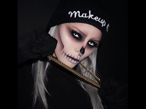 Halloween Skull Makeup Tutorial By Itsisbelbedoya - YouTube