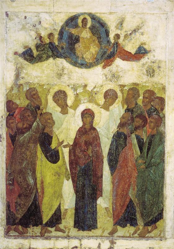 Ascension of Jesus, 1408Andrei Rublev - by style - Byzantine