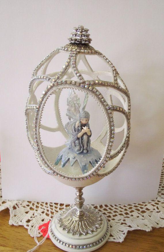 Blue Fairy Ostrich Egg Art